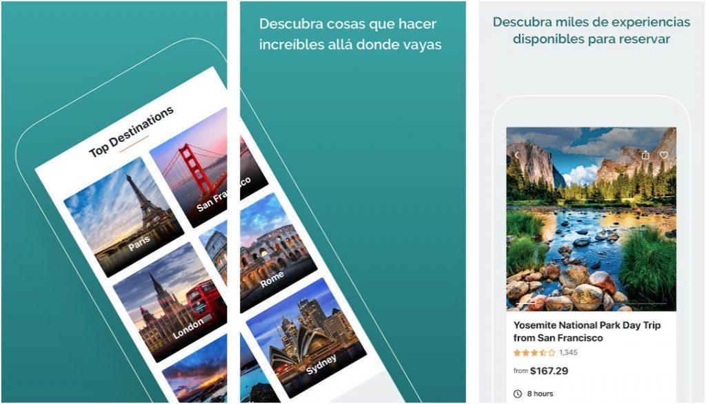 Reserva increíbles cosas que hacer a través de la app Viator