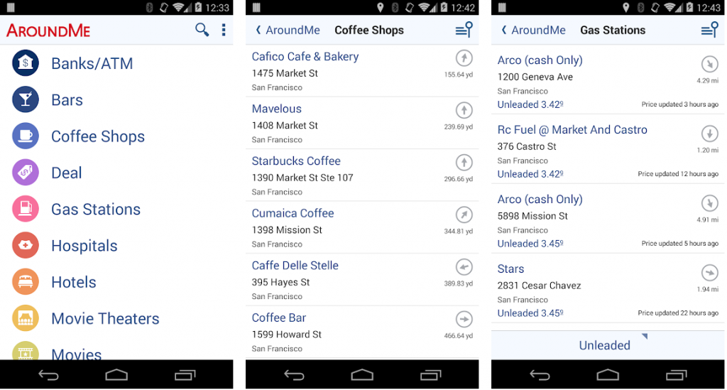 Around me es una de las apps que identifica tu ubicación