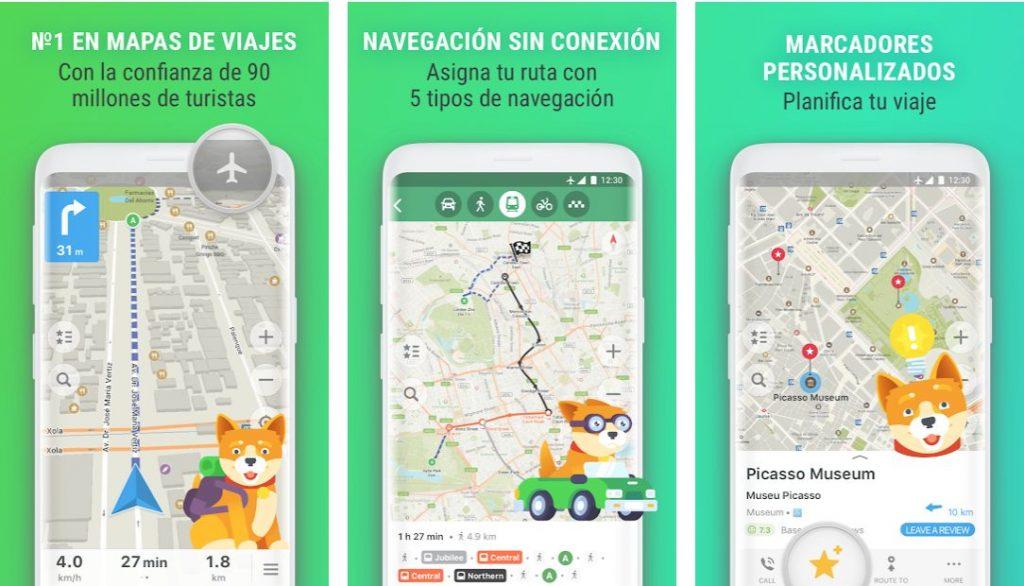 Maps me es una de las apps en la que confían más de 140 millones de viajeros